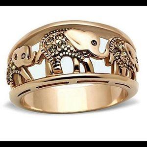 Rose gold elephant band
